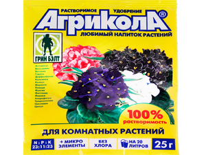"""Удобрение """"Агрикола"""" для комнатных растений"""