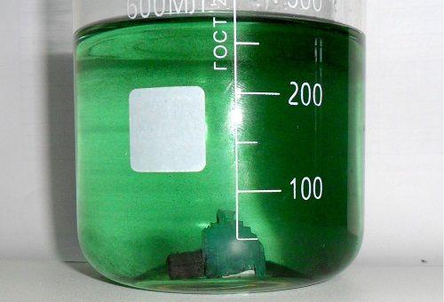 раствор сульфата железа для удобрения