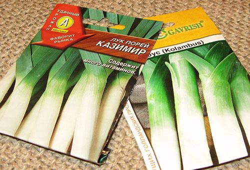 Семена лука-порея