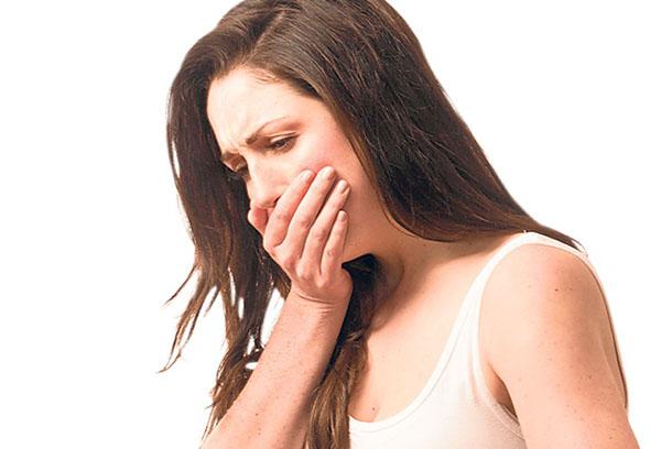 Симптомы отравления - тошнота