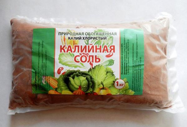 Калийная соль для подкормки овощей