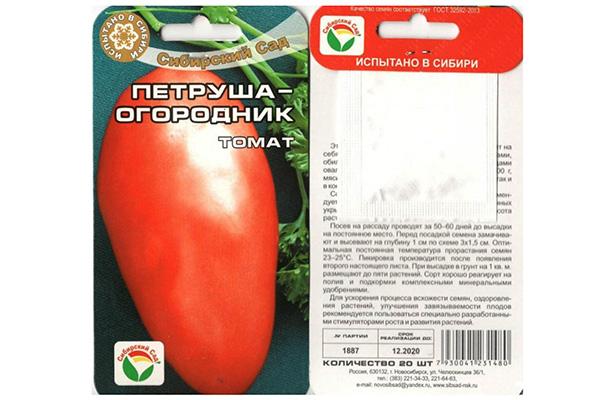 Семена томатов Петруша огородник