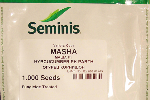 Пакетик с семенами огурцов Маша