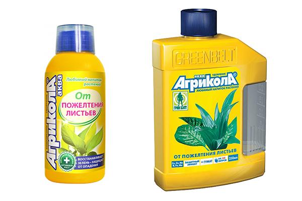 Жидкое удобрение «Агрикола от пожелтения листьев»