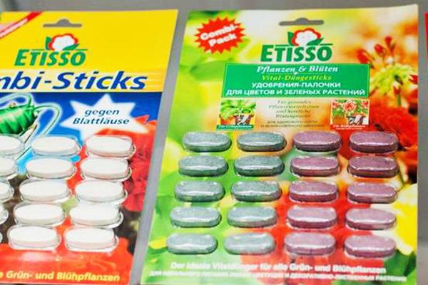 Удобрение Etisso в палочках