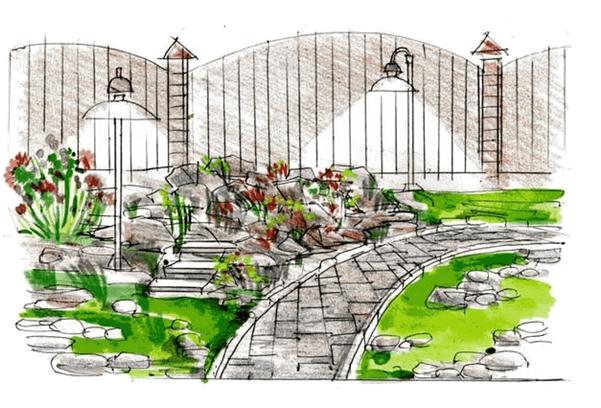 Рокарий схема посадки растений