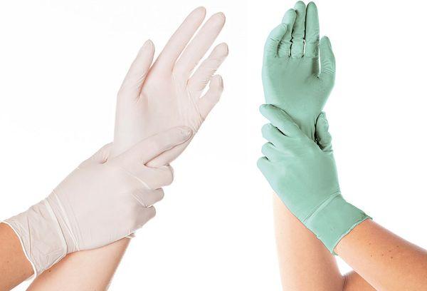 Виниловые и нитриловые перчатки